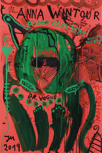 "Jonathan Meese, '""ELDORADOC-POWERZ OF HUMPTYDUMPTYISM!""', 2019"