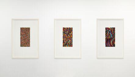 Sol LeWitt, 'Wavy Brushstrokes (small); Short, Vertical Brushstrokes; Curvy Brushstrokes (small)', 1997