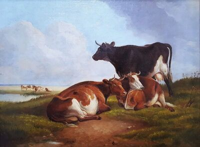 Thomas Sidney Cooper, C.V.O., R.A., 'Landscape with Cows', 1891