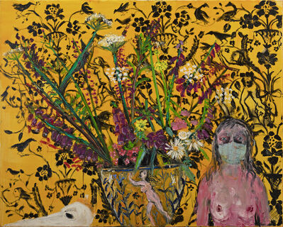 Shani Rhys James, 'Nostagio III (Blue Face Mask)', 2020