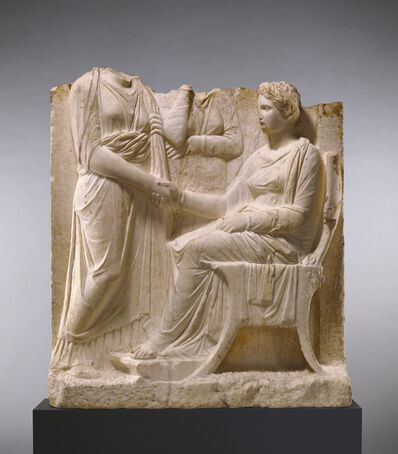 'Grave Naiskos of a Seated Woman with Two Standing Women', ca. 340 BCE
