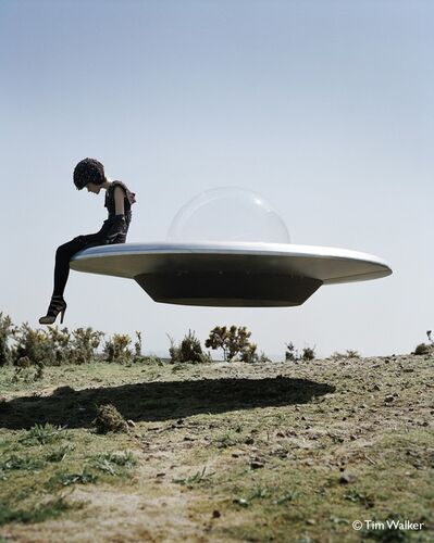 Tim Walker, 'Kinga Rajzak on flying saucer, Eglingham Hall, Northumerland ', 2009