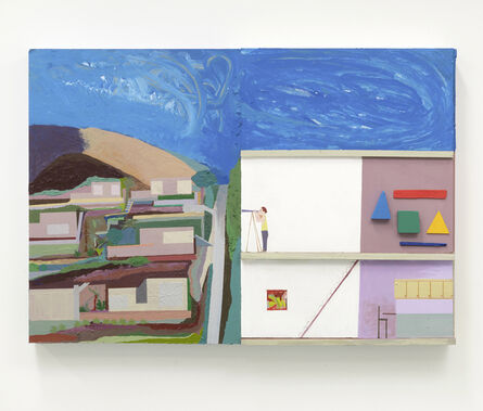 Chris Johanson, 'He Likes To Watch Because, You Know, It Really Is A Fascinating City (Los Angeles Landscape Painting no.3)', 2014