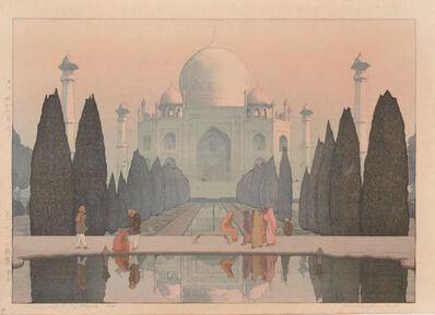 Yoshida Hiroshi, 'Morning Mist in Taj Mahal No. 5', 1932