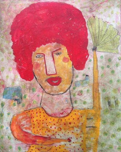 Indra Dodi, 'Woman with Fan', 2015