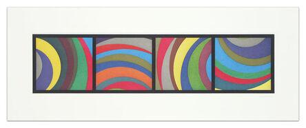 Sol LeWitt, 'Irregular Arcs From Four Sides (with Black Border)', 1997