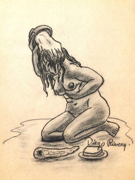 Diego Rivera, 'Mujer Bañista', 20th Century