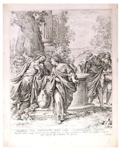 Jan de Bisschop, 'Christ and the Samaritan Woman', 1669
