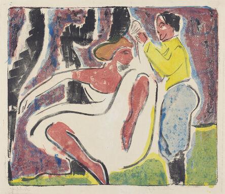 Ernst Ludwig Kirchner, 'Russian Dancers (Russisches Tänzerpaar)', 1909