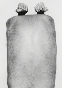 John Coplans, 'Self Portrait, Back With Arms Above', 1984