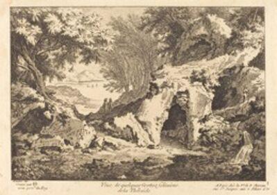 Quentin-Pierre Chedel after François Boucher, 'Veue de quelques Grottes solitaires de la Thebaide'