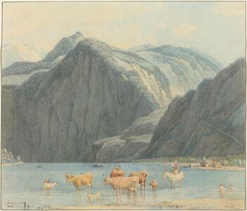 Wilhelm von Kobell, 'Königsee with the Cliffs of St. Bartholomëe', 1837