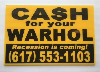 Andy Warhol, 'Cash for your Warhol (Yellow/Black Recession) A/P', 2018