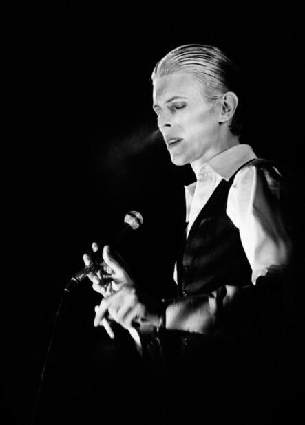Gijsbert Hanekroot, 'David Bowie, performing during thin white duke tour, Ahoy, Rotterdam', 1976
