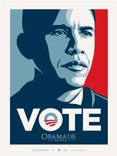 Shepard Fairey, 'VOTE Obama '08', 2008