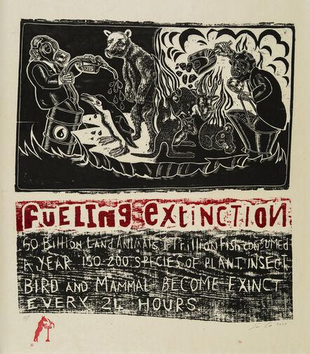 Sue Coe, 'Fueling Extinction', 2020