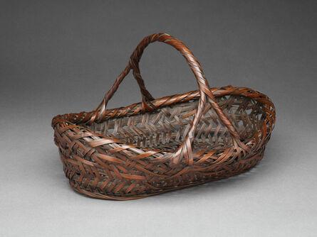 Wada Waichisai I, 'Kobangata (Oval-shaped) Basket', 1895-1904
