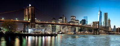 Andrew Prokos, 'Night & Day - Brooklyn Bridge and Lower Manhattan', 2016