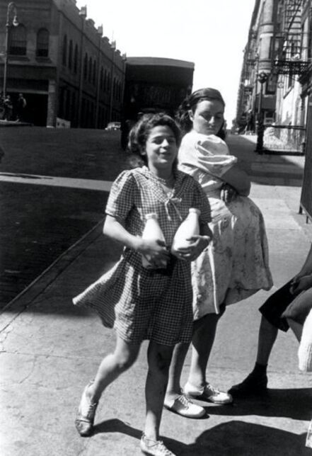 Helen Levitt, 'Untitled, New York (Woman carrying milk)', 1945