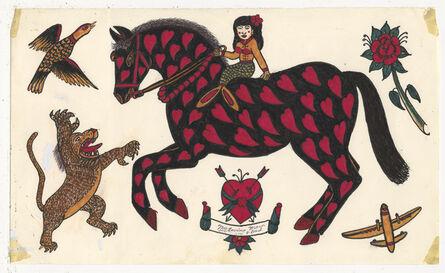 Rosie Camanga, 'Untitled (Horse with Hearts)', ca. 1950