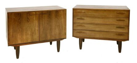 Kay Christensen, 'A Danish rosewood cabinet and matching chest en suite'