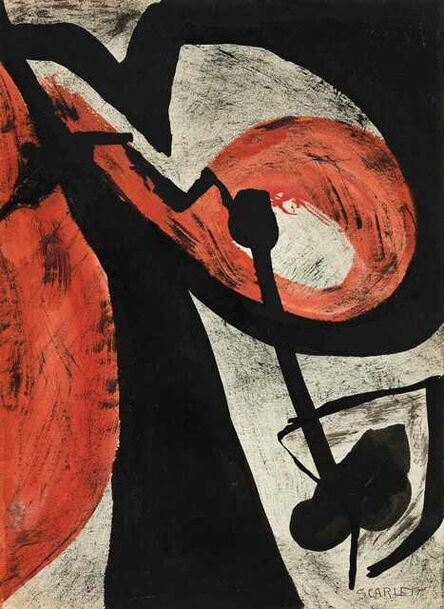 Rolph Scarlett, 'Untitled Abstraction (Study in red and Black)', ca. 1935