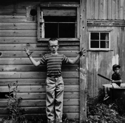 Ralph Eugene Meatyard, 'Untitled (Boy Making Gesture) [Michael and Christopher]', 1959/1974