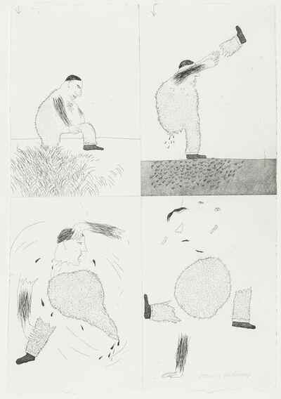 David Hockney, 'He Tore Himself in Two', 1969