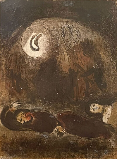 Marc Chagall, 'Ruth at the Feet of Boaz', 1960