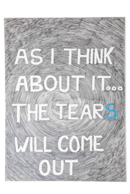 Jean-Luc Vilmouth, 'Sans titre (As I Think...)', 2013