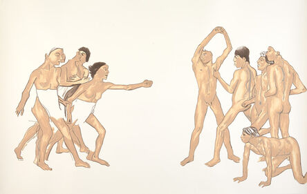 Michael Landy, 'Young spartans exercising (after Degas)', 2011