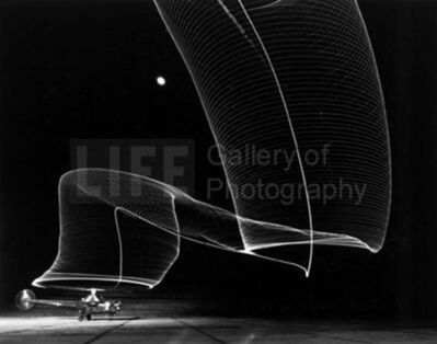 Andreas Feininger, 'Navy Helicopter or Pattern Made by Helicopter Wing Lights', 1949