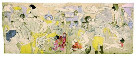 Henry Darger, 'At Calmanrina murdering naked little girls', 1910-1970