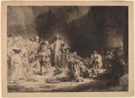 Rembrandt van Rijn, 'Christ Preaching (The Hundred Guilder Print)', ca. 1649