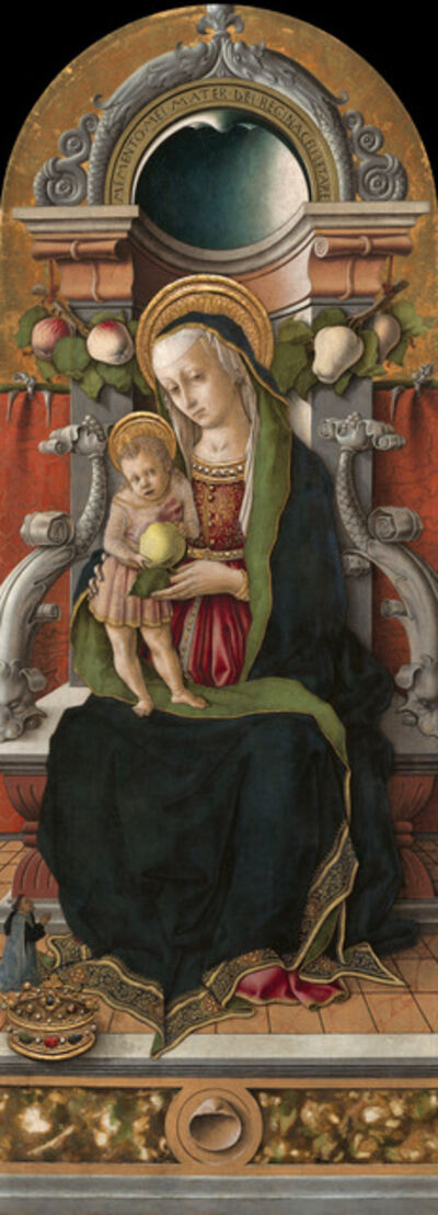 Carlo Crivelli, 'Madonna and Child Enthroned with Donor', 1470