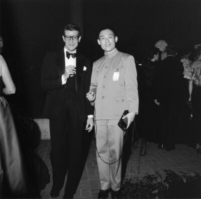 Tseng Kwong Chi, 'Yves Saint Laurent and Tseng Kwong Chi', 1980