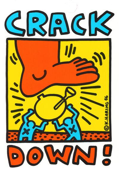 Keith Haring, 'Keith Haring Crack Down! Program', 1986
