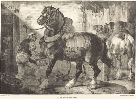 Théodore Géricault, 'A French Farrier', 1821