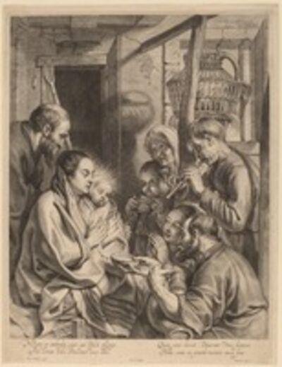 Ignatius Cornelis Marinus after Jacob Jordaens, 'The Adoration of the Shepherds'
