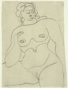 Gaston Lachaise, 'Female Nude - Sotheby's New York', 1920