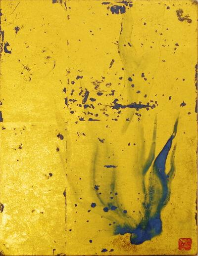 Makoto Fujimura, 'Golden Fire- Azurite Flames', 2007