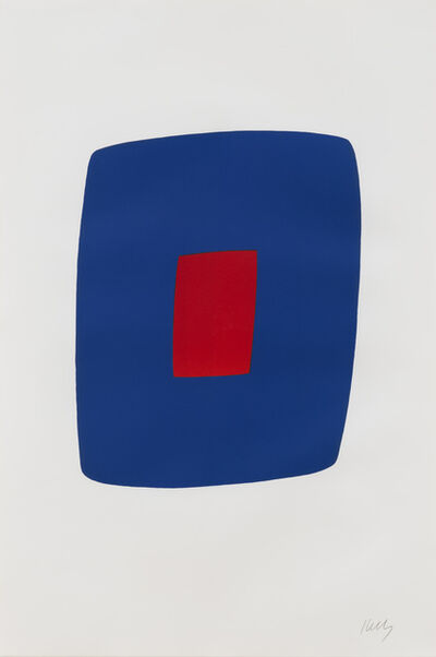 Ellsworth Kelly, 'Dark Blue with Red', 1964-1965