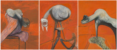 Francis Bacon, 'Three Studies for Figures at the Base of a Crucifixion', 1944