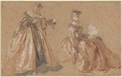 Nicolas Lancret, 'Two Elegant Women in Polish Dress', ca. 1723