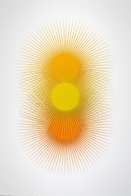 Shasti O'Leary Soudant, 'Burst Star (Zinc, Melon, Gold)', 2019