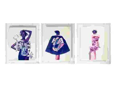 Irving Penn, 'Yves Saint Laurent, Braque Inspired Fashion, Katoucha Niane, Paris', 1988