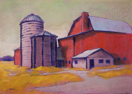 Andy Newman, 'Barn and Silos', 2010