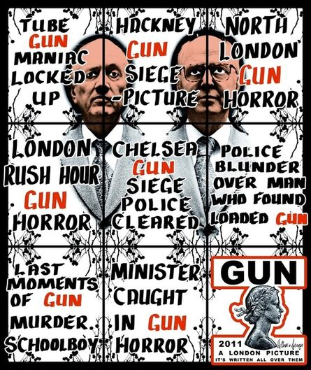 Gilbert and George, 'Gun', 2011