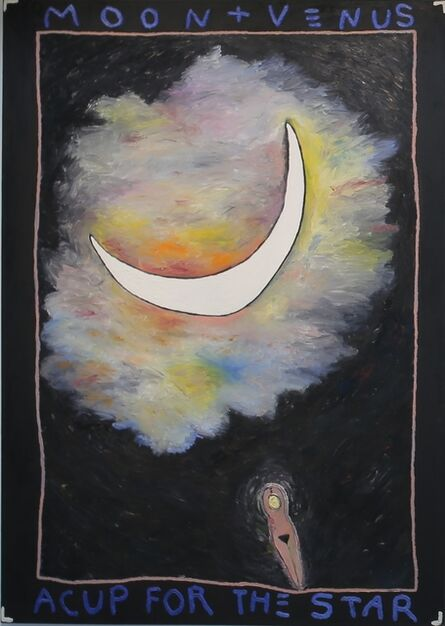 Squeak Carnwath, 'Moon + Venus/A Cup for the Star', 1982