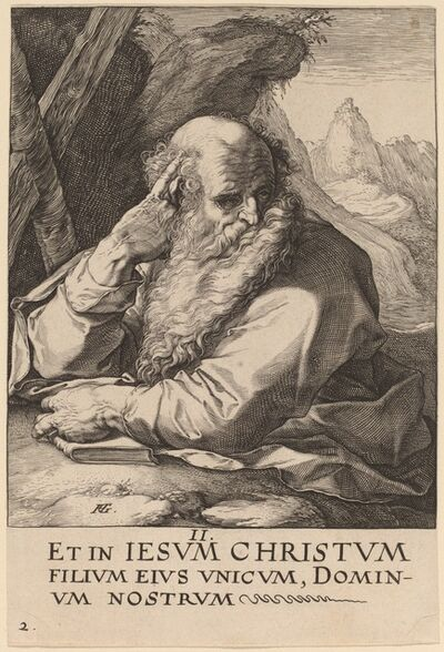 Hendrik Goltzius, 'Saint Andrew', probably 1589